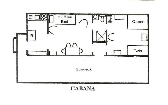 Rental lakefront cottage floorplans for Cabana design plans
